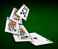 Casino do pôquer dos cartões de jogo Fotografia de Stock Royalty Free