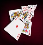 Casino do pôquer dos cartões de jogo Fotos de Stock Royalty Free