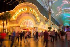 Casino dourado Vegas da pepita Imagens de Stock