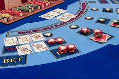 Casino - echt spel Royalty-vrije Stock Foto's