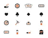 Casino eenvoudig pictogrammen Royalty-vrije Stock Afbeelding