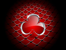 Casino element clover Royalty Free Stock Image
