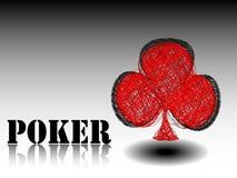 Casino element clover Royalty Free Stock Photo
