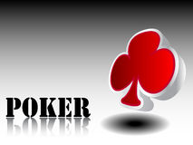 Casino element clover Stock Photography