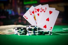 Casino element isolation on the colorful, Slot machine, Roulette while, Dice, Casino chip - image stock photo
