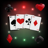Casino element Poker cards  Royalty Free Stock Image