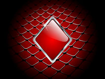 Casino element rhombus Royalty Free Stock Photography