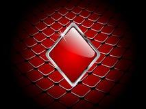 Casino element rhombus. Nice casino element background - rhombus Royalty Free Stock Photography