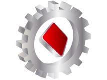 Casino element rhombus Royalty Free Stock Image