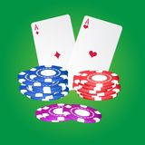 Casino elements. Royalty Free Stock Photography