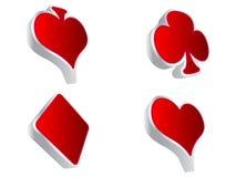 Casino elements. 3d Casino elements- vector illustration Royalty Free Stock Photo