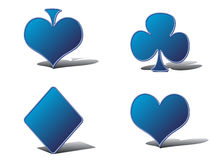 Casino elements. Isolated on white background - vector illustration Royalty Free Stock Photo