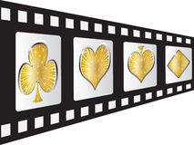 Casino elements. Film strip with casino elements Stock Image