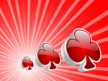 Casino elements - clover Royalty Free Stock Image