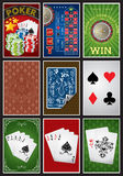 Casino elements collection Stock Images