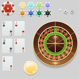 Casino elements collection Royalty Free Stock Images