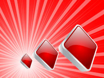 Casino elements - rhombus Royalty Free Stock Photography