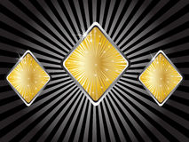 Casino elements - rhombus Royalty Free Stock Photos