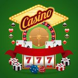 Casino elements set Royalty Free Stock Photo