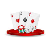 Casino elements Royalty Free Stock Photos