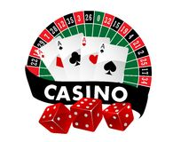 Casino emblem or badge Royalty Free Stock Photo