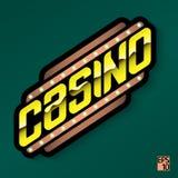Casino - emblema o logotipo de oro Imagen de archivo libre de regalías