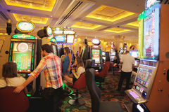 Casino en el hotel veneciano Fotografía de archivo