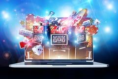 Casino en ligne jouant illustration de vecteur