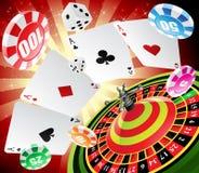 Casino en roulette Stock Afbeelding