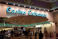 Casino Entrance Royalty Free Stock Photo