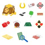 Casino and equipment cartoon icons in set collection for design. Gambling and money vector symbol stock web illustration. Casino and equipment cartoon icons in Royalty Free Stock Photography