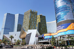 Casino et achats d'hôtels d'aria Photo libre de droits