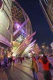 Casino et hôtel grands de Lisbonne dans Macao par nuit Photographie stock
