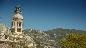 Casino et montagnes chez le Monaco, Cote D'Azur France banque de vidéos