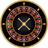 Casino european roulette vector royalty free illustration