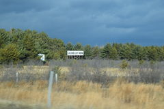 Casino Exit Now Highway Sign In Pinegrove.  Royalty Free Stock Photo