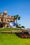 Casino facade and mirror dish monument in Monaco, Stock Photos