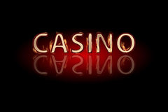 Casino fire text on a dark background. Simple fashion symbol for web site design or a button for mobile applications. Logo Illustrations Stock Images