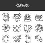 Casino flat icons set Stock Photography