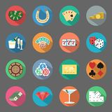 Casino flat icons set Royalty Free Stock Photo