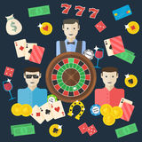 Casino flat illustration Stock Photography