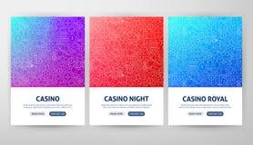 Casino Flyer Concepts stock illustration