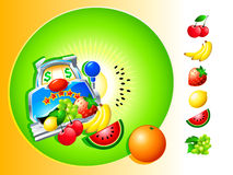 Casino fruit slot Royalty Free Stock Images