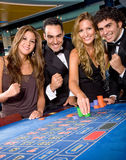 Casino gamblers Stock Images