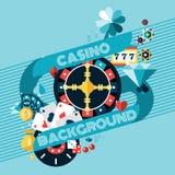 Casino Gambling Background Royalty Free Stock Photos