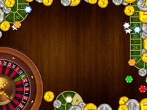 Casino gambling background texture illustration Royalty Free Stock Photography
