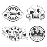 Casino and gambling badges or emblems Stock Images