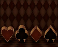Casino gambling banner with poker elements Royalty Free Stock Images