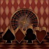 Casino gambling card Stock Photos