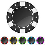 Casino gambling chips Royalty Free Stock Images